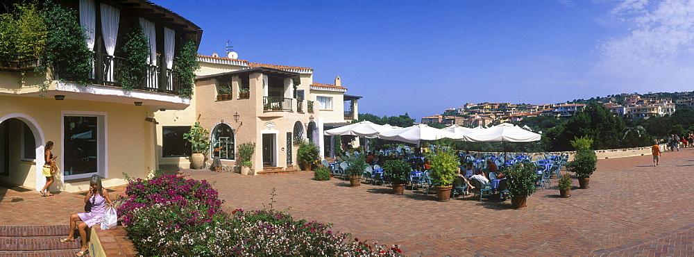 Piazza, restaurant, Porto Cervo, Costa Smeralda, Sardinia, Italy, Europe