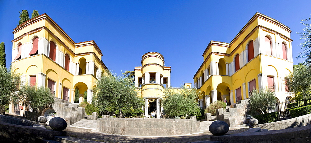Archive and library at the Vittoriale degli Italiani, Italian victory monument, property of the Italian poet Gabriele D'Annunzio, Gardone Riviera, Lake Garda, Italy, Europe