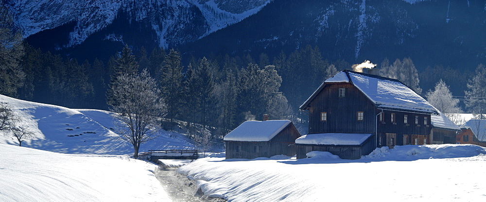 A farmhouse in the small village Krungl near the cross country skiing center of Bad Mitterndorf Styria Austria
