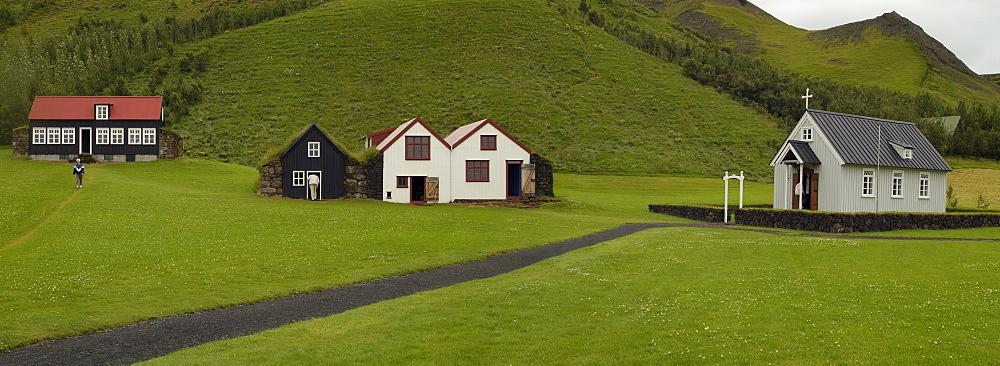 Open air museum in Skogar Iceland