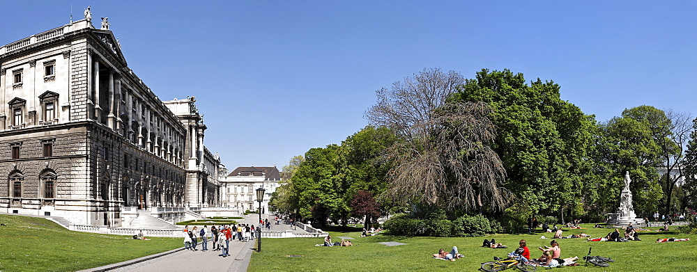 Ethnological Museum and Burggarten (Castle Garden), Vienna, Austria, Europe