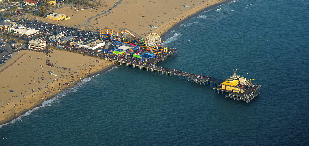 Santa Monica Pier, Marina del Rey, Los Angeles County, California, USA, North America
