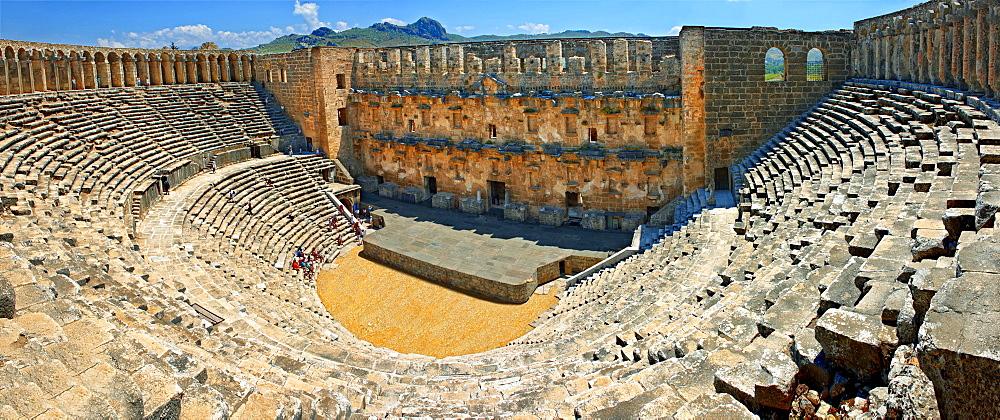 Roman Ampitheatre of Aspendos, near Serik, Antalya Province, Turkey, Asia