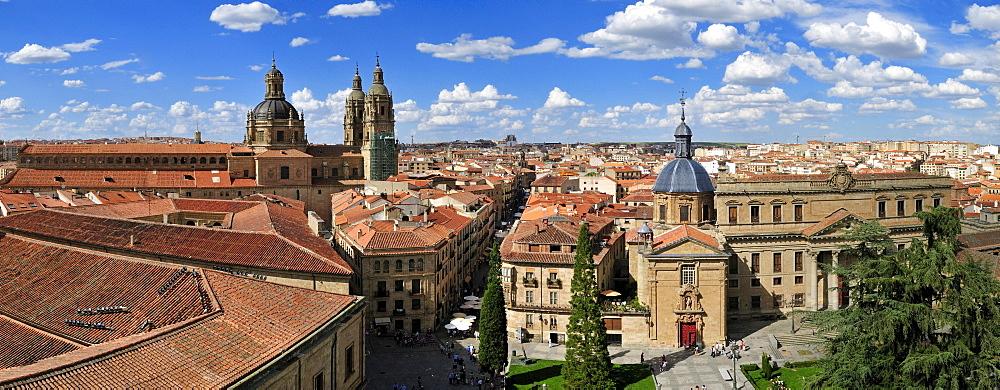 Overlooking the historic town, Salamanca, Unesco World Heritage Site, Castilla y Leon, Castile and Leon, Spain, Europe