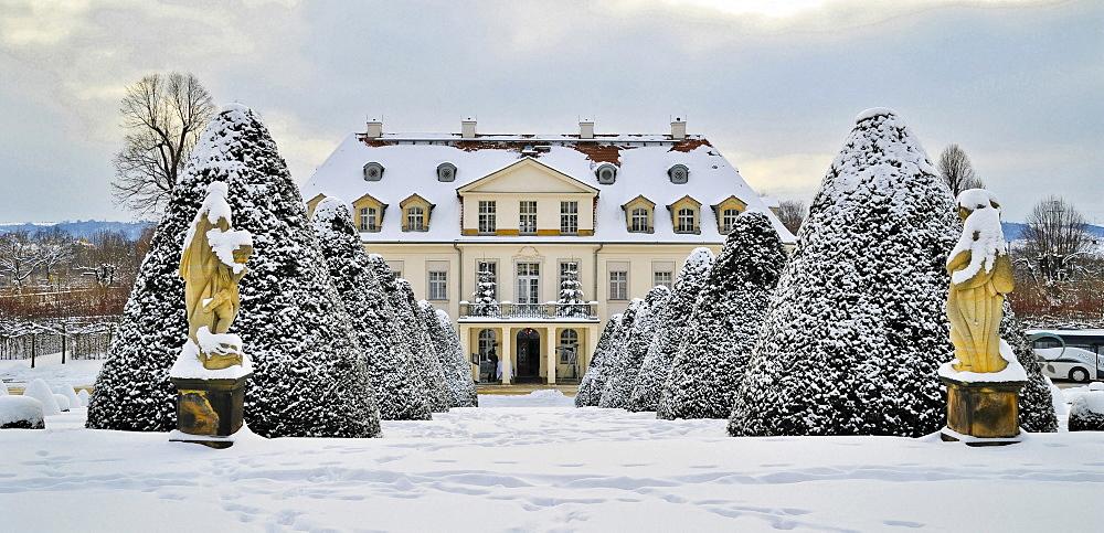 Schloss Wackerbarth castle, Wackerbarths Ruh, Radebeul, Sachsen, Deutschland, Europa