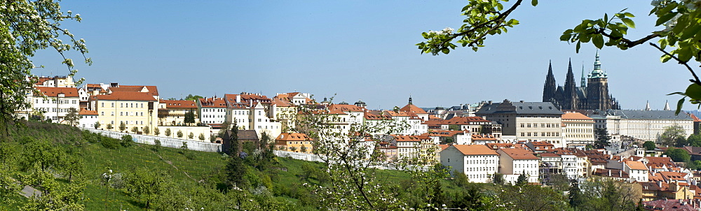 Panorama, Lesser Town, Mala Strana, with Prague Castle, Hradcany, Prague, Czech Republic, Europe