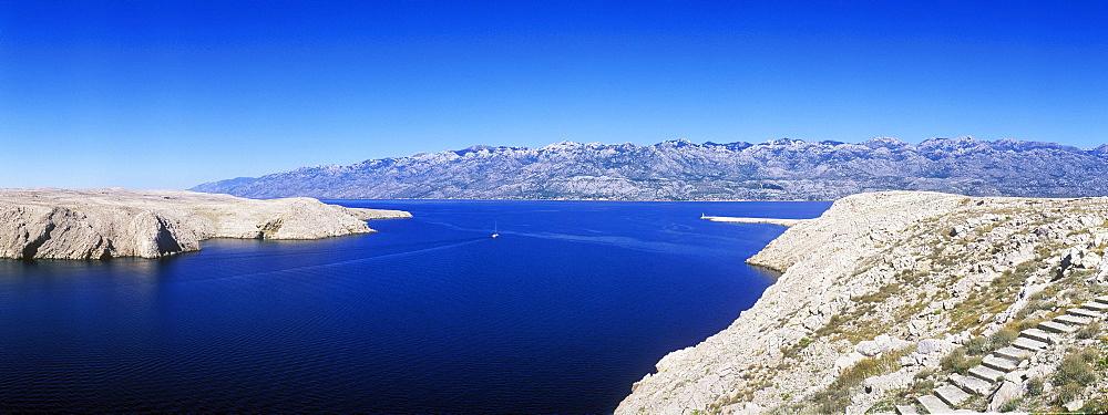 Karst landscape, Pag island, Dalmatia, Croatia, Europe