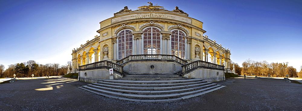 Gloriette building in the palace gardens Schloss Schoenbrunn palace, UNESCO World Heritage Site, Vienna, Austria, Europe