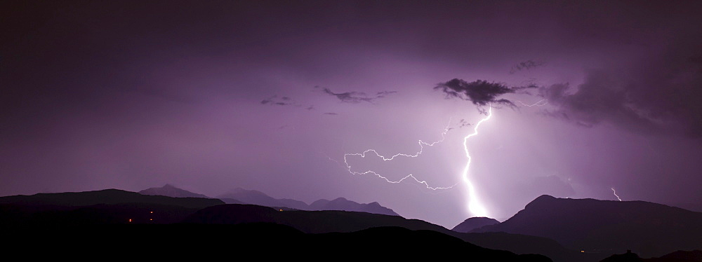 Thunderstorm in Upper Adige, Dolomites, South Tyrol, Italy, Europe