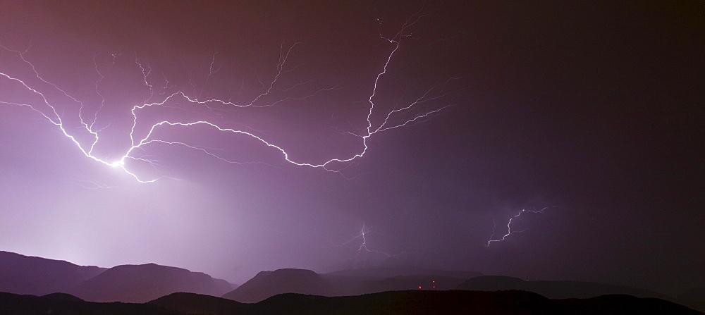 Thunderstorm in Upper Adige, Dolomites, Alto Adige, Italy, Europe