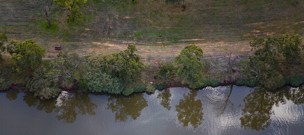 Panoramic view of the Yarkon stream, Israel