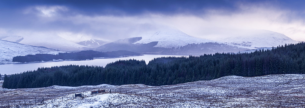 Loch Tulla and the surrounding mountains, Highlands, Scotland, United Kingdom, Europe