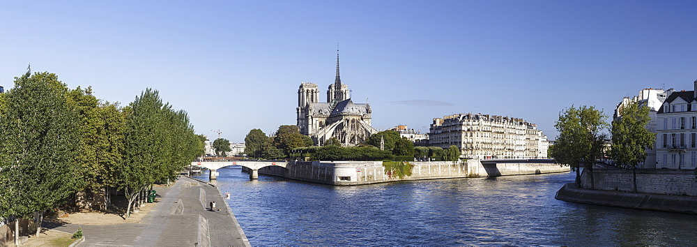Notre Dame de Paris Cathedral and the River Seine, Paris, France, Europe - 849-1754