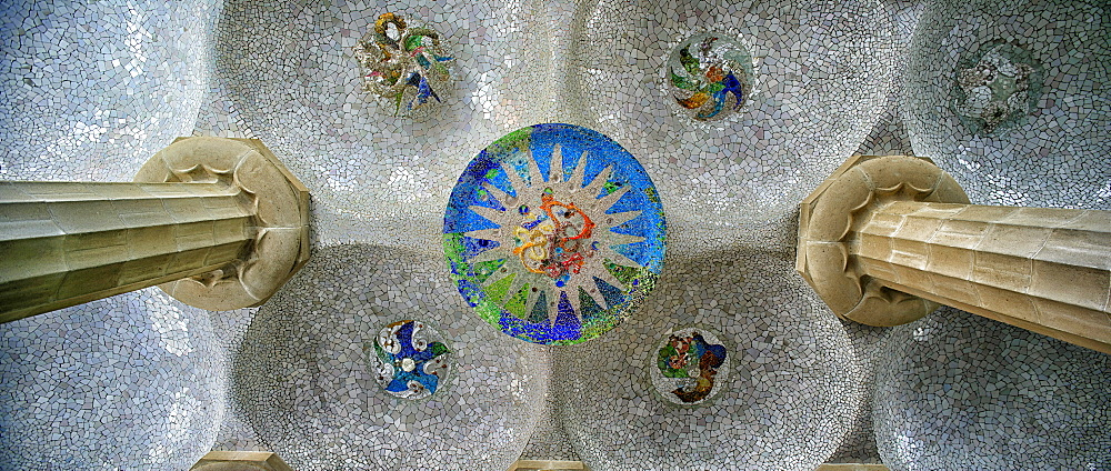Park Guell from Antoni Gaudi in Barcelona, Catalonia, Spain