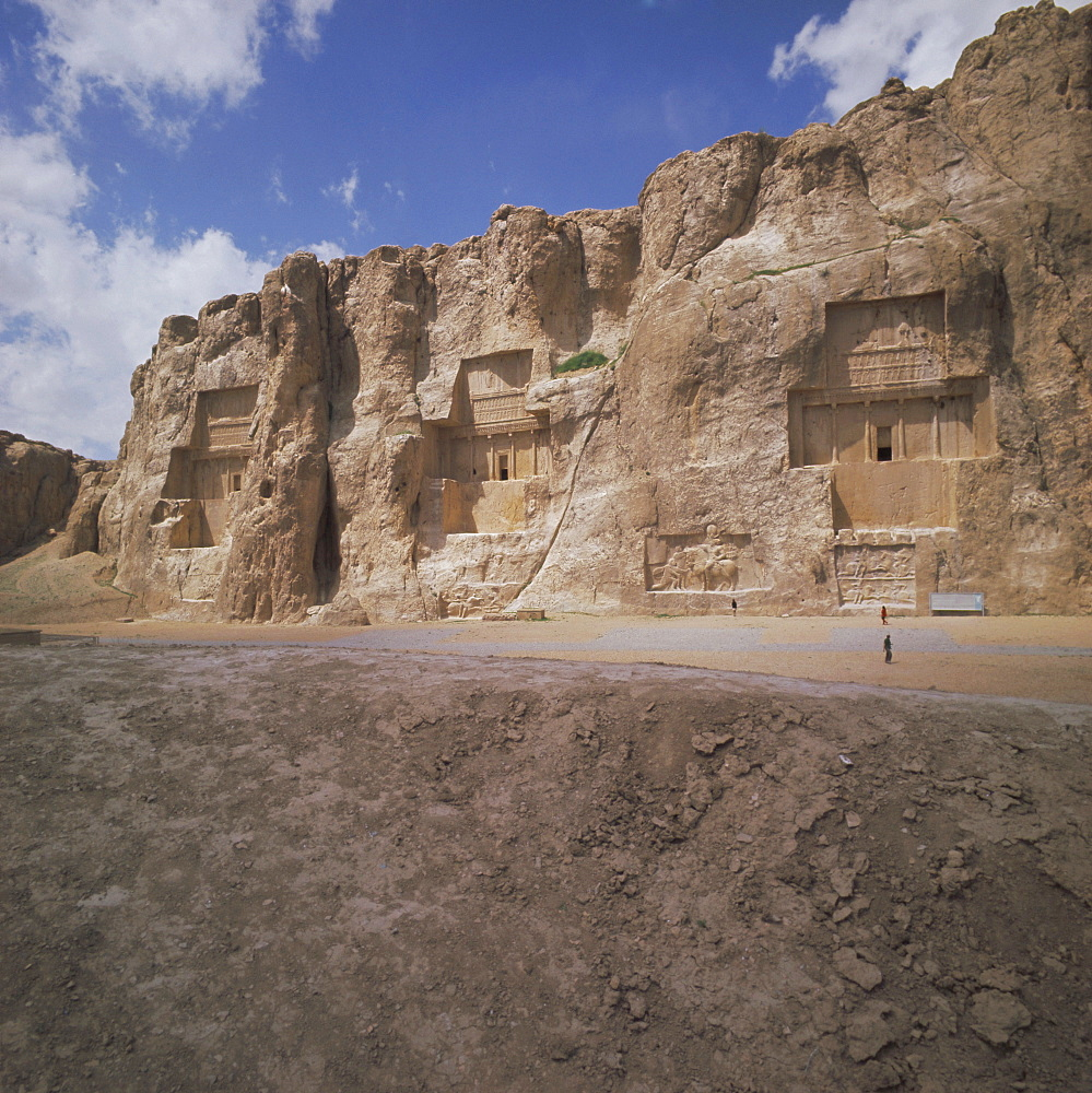 Tombs of Artaxerxes I (left), Xerxes (centre), and Darius the Great (right), Naqsh-i-Rustam, Iran, Middle East