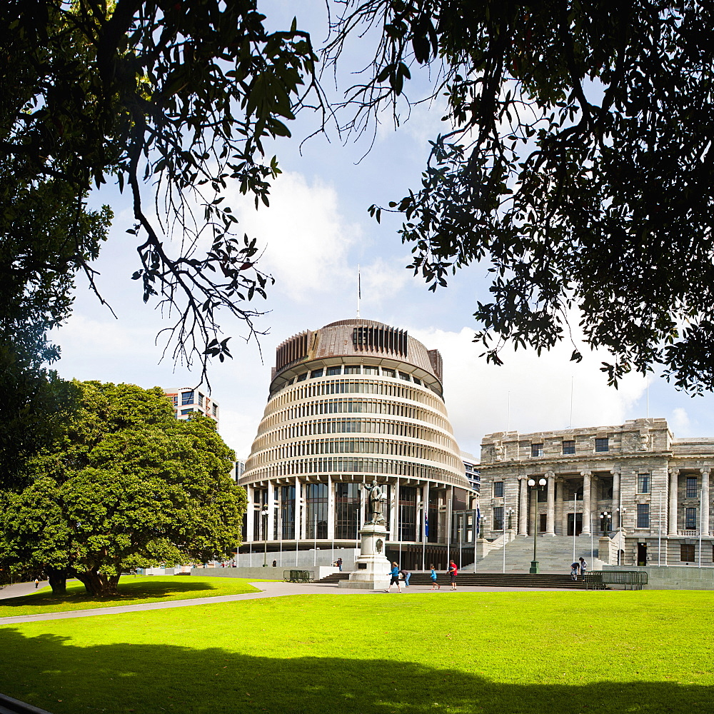 Beehive, the New Zealand Parliament Buildings, Wellington, North Island, New Zealand, Pacific
