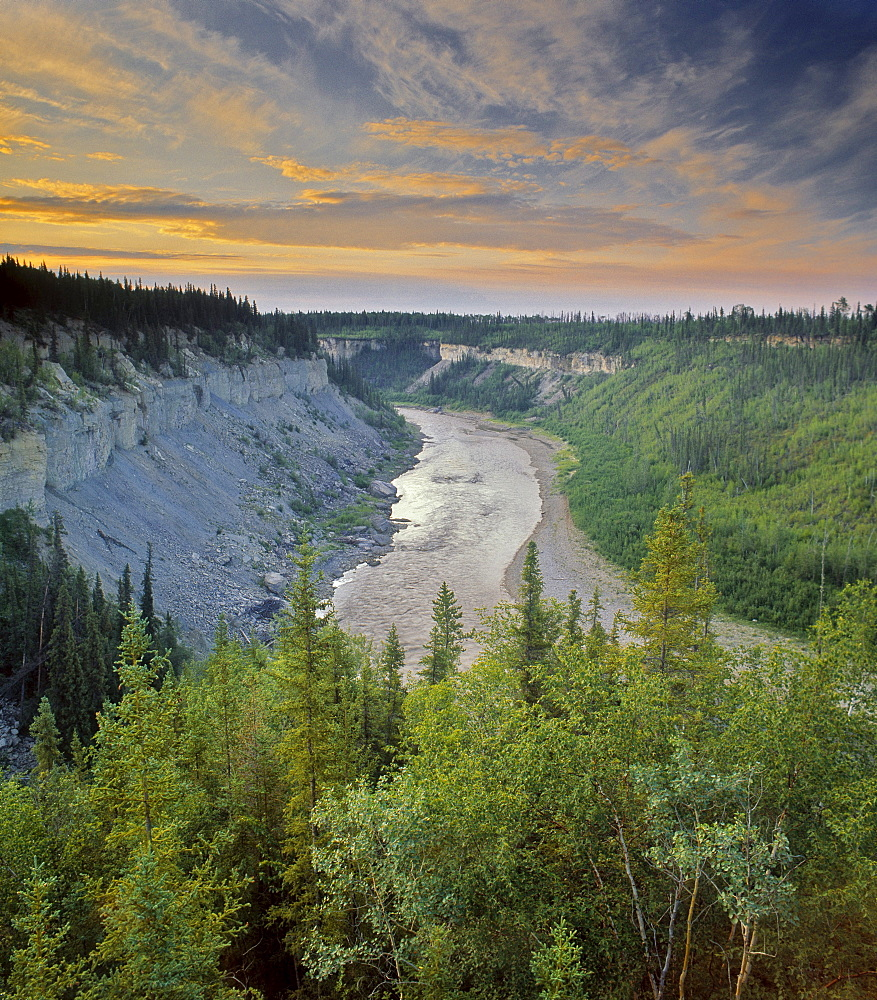 The Escarpment Lookout, Hay River, Northwest Territories, Canada