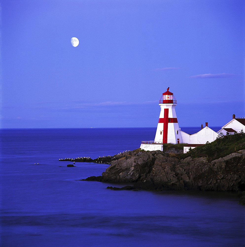 Lighthouse in Moon Light, Campobello Island, New Brunswick