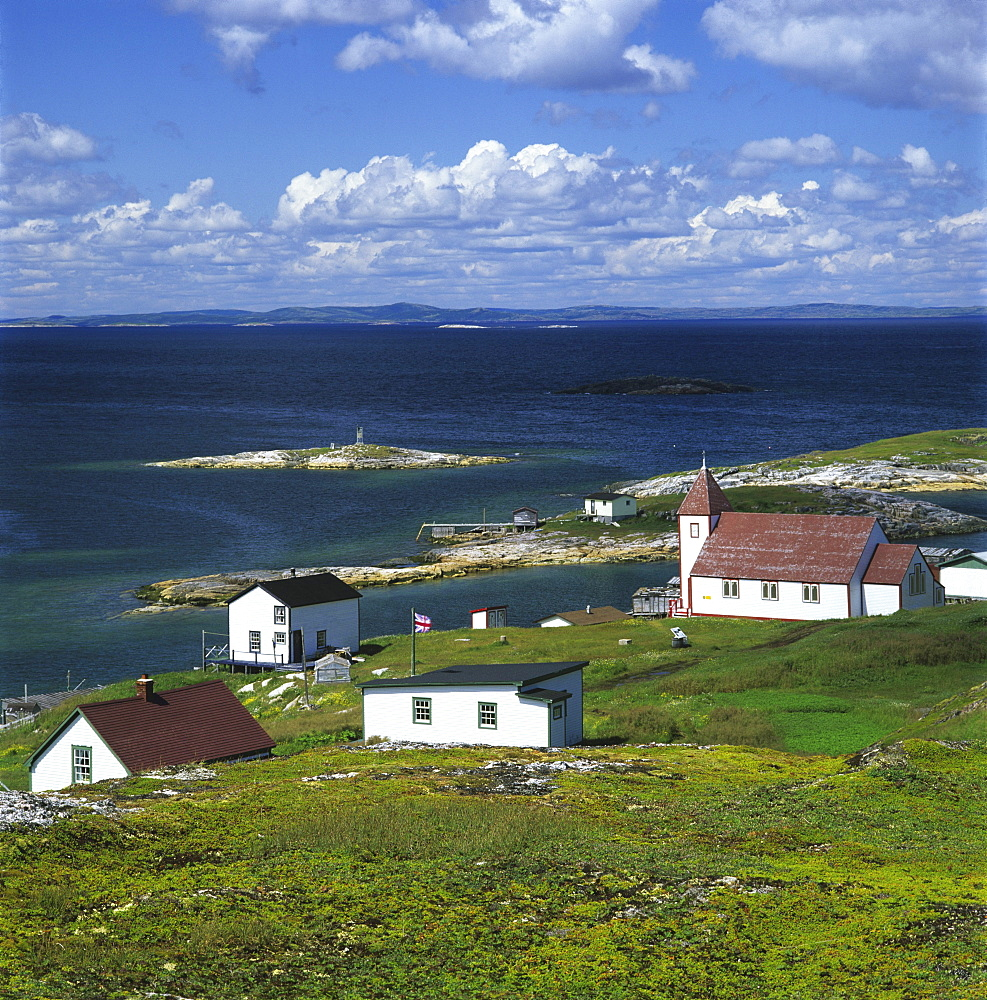 Church and Houses, Battle Harbour Island, Newfoundland and Labrador