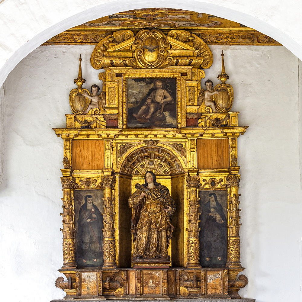 San Francisco Church and Convent, Santa Lucia retable, Quito, UNESCO World Heritage Site, Pichincha Province, Ecuador, South America