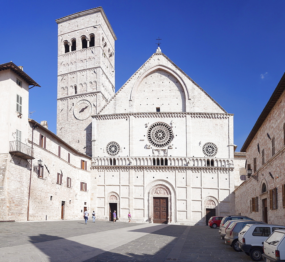 San Rufino Cathedral, Assisi, Perugia District, Umbria, Italy, Europe