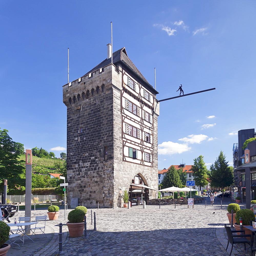 Schelztorturm tower, Esslingen, Baden-Wurttemberg, Germany, Europe