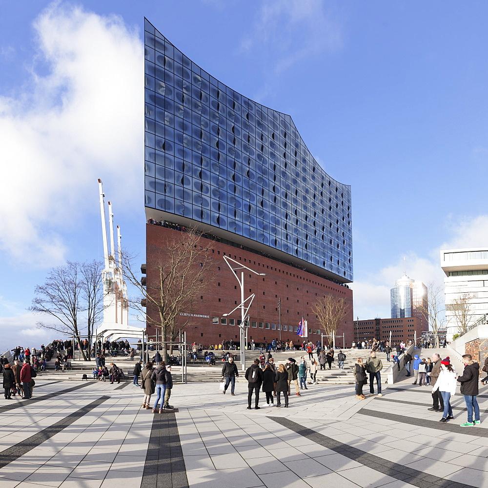 Elbphilharmonie, HafenCity, Hamburg, Hanseatic City, Germany