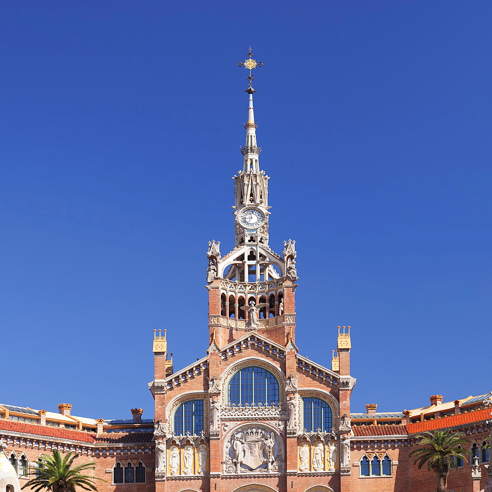 Sant Pau Hospital, Lluis Domenech i Montaner, UNESCO World Heritage Site, Modernisme, Barcelona, Catalonia, Spain, Europe