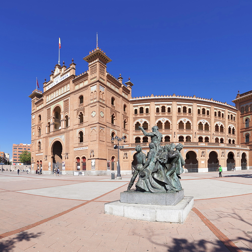 Las Ventas bull ring, mudejar building, Plaza de Toros, Madrid, Spain, Europe