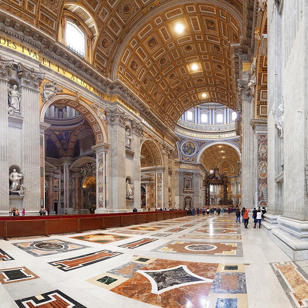 Interior, St. Peter's Basilica (Basilica di San Pietro), UNESCO World Heritage Site, Vatican City, Rome, Lazio, Italy, Europe - 1160-3852