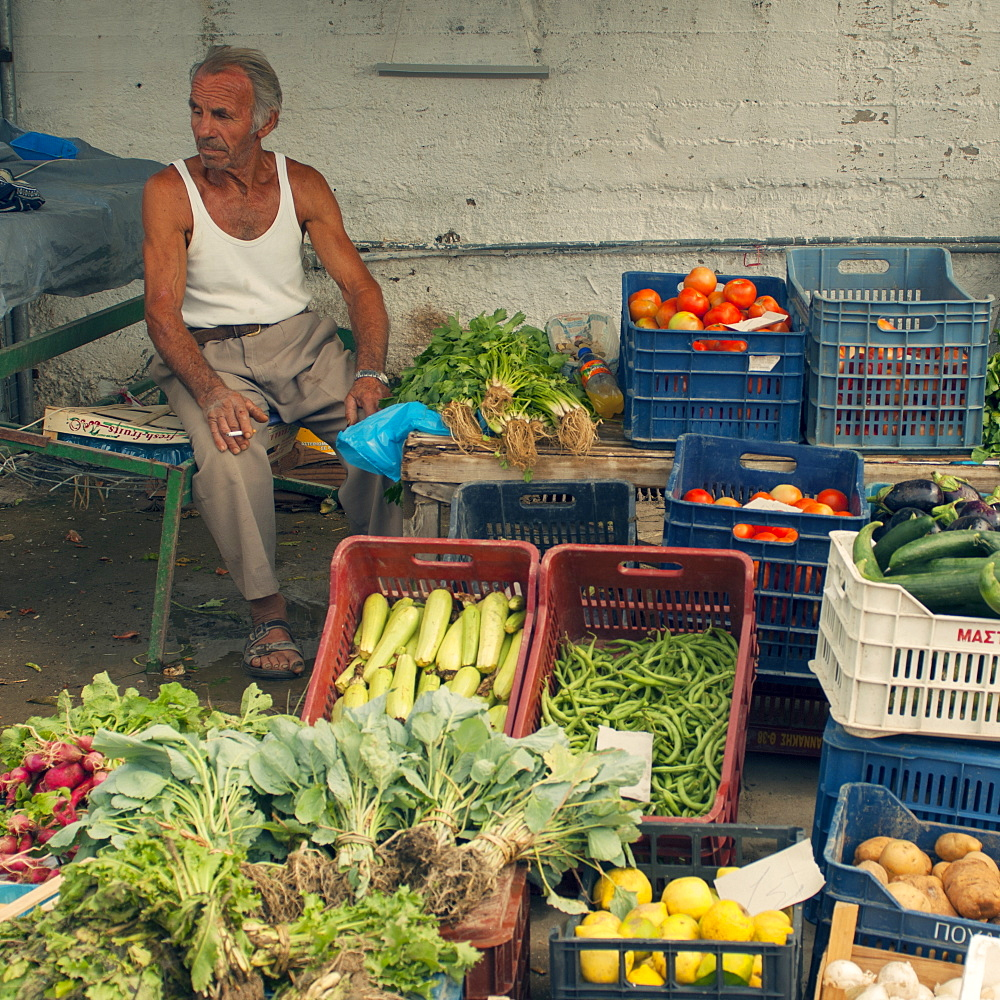 Vegetable market, Corfu, Greece, Europe - 1212-412