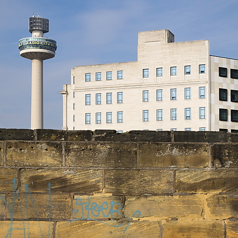 Radio City Tower (St. John's Beacon), a radio and observation tower built in 1969, Liverpool, Merseyside, England, United Kingdom, Europe