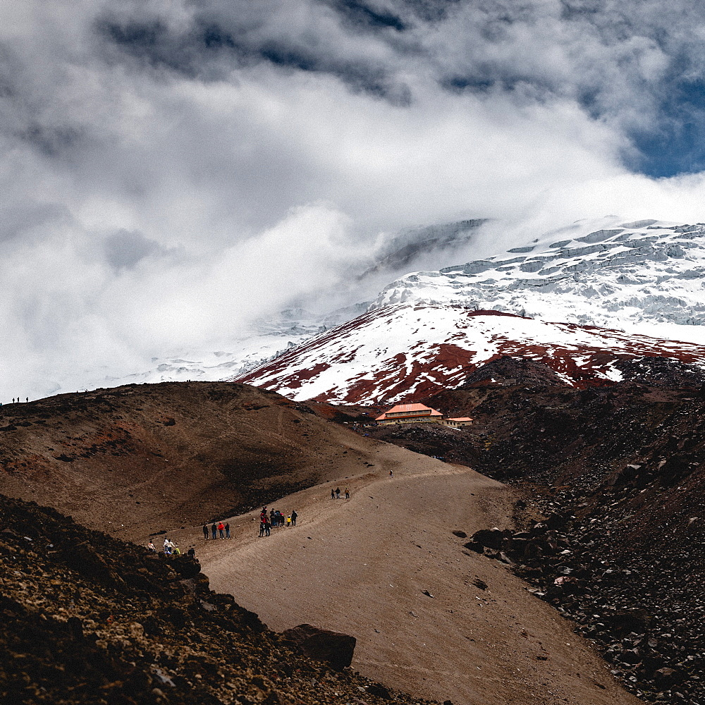 Cotopaxi Volcano in Ecuador hiking towards the refuge - 1243-35