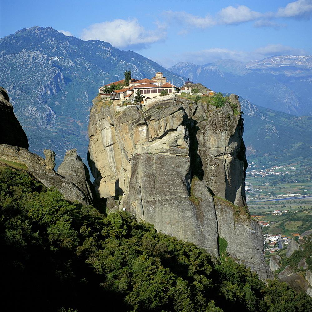 Holy monastery of Aghia Triada (Holy Trinity), Meteora, UNESCO World Heritage Site, Greece, Europe