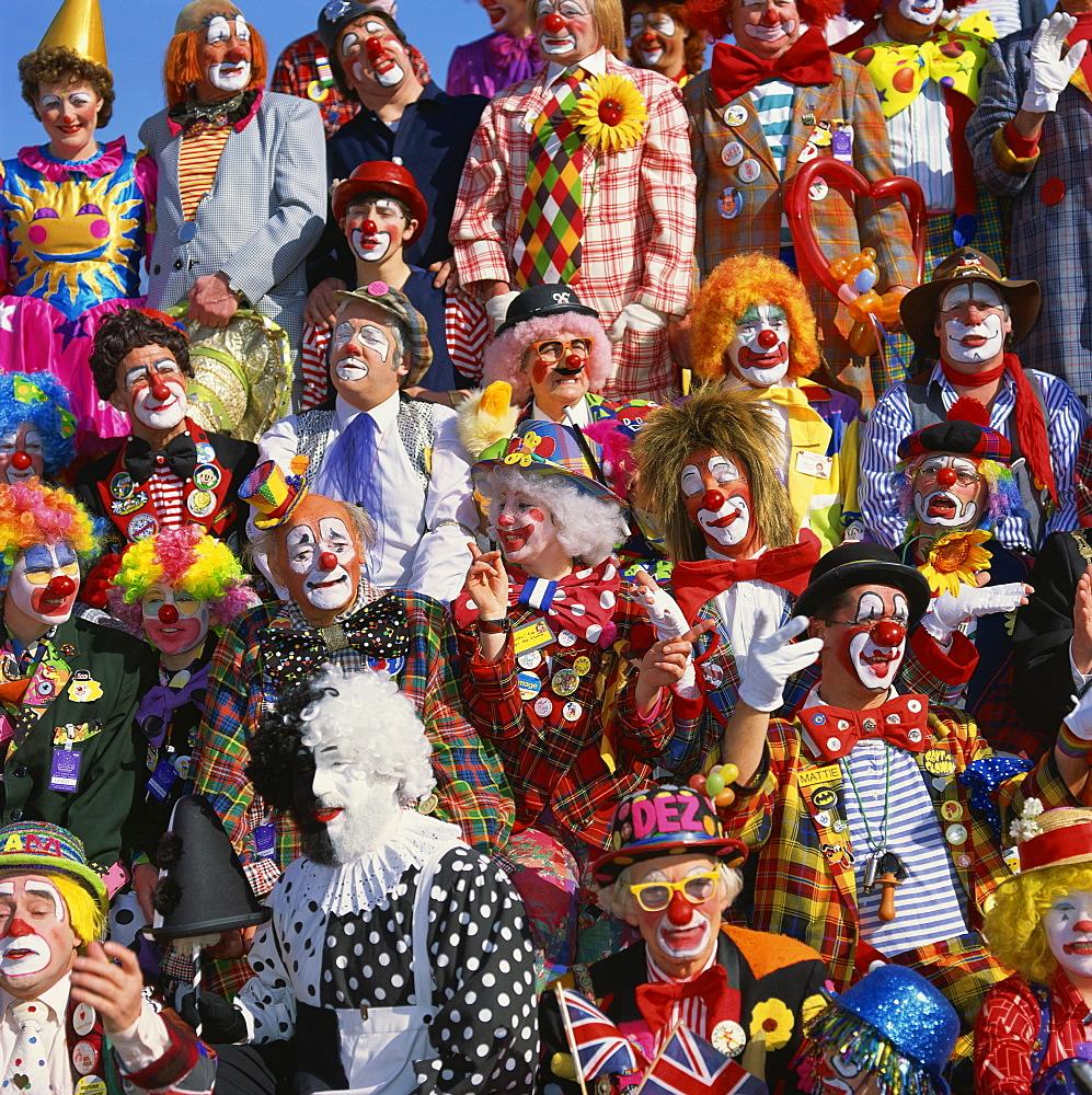 Clown convention, Bognor Regis, West Sussex, England, United Kingdom, Europe - 136-575