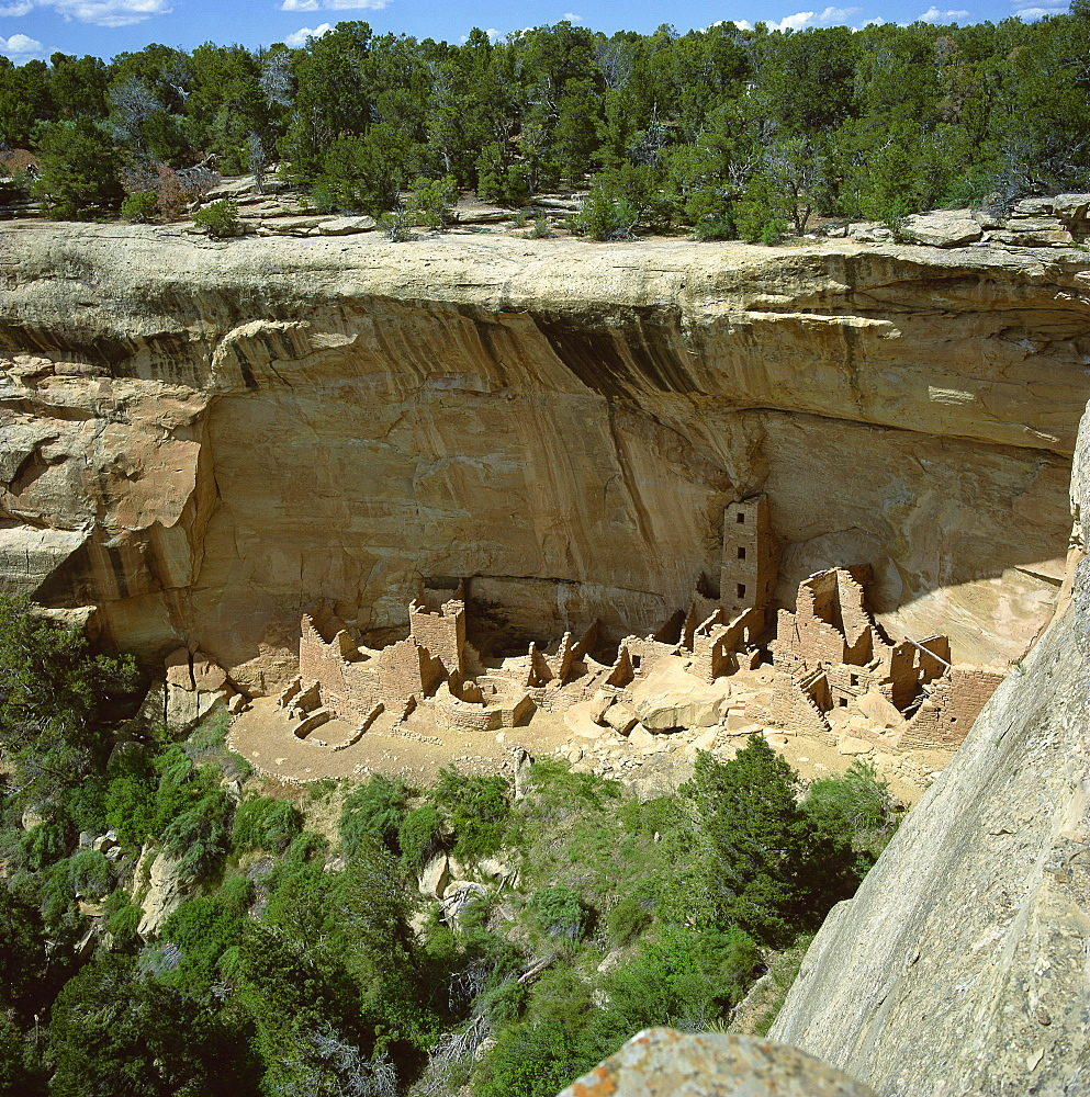 Square tower house, Mesa Verde, UNESCO World Heritage Site, Colorado, United States of America, North America