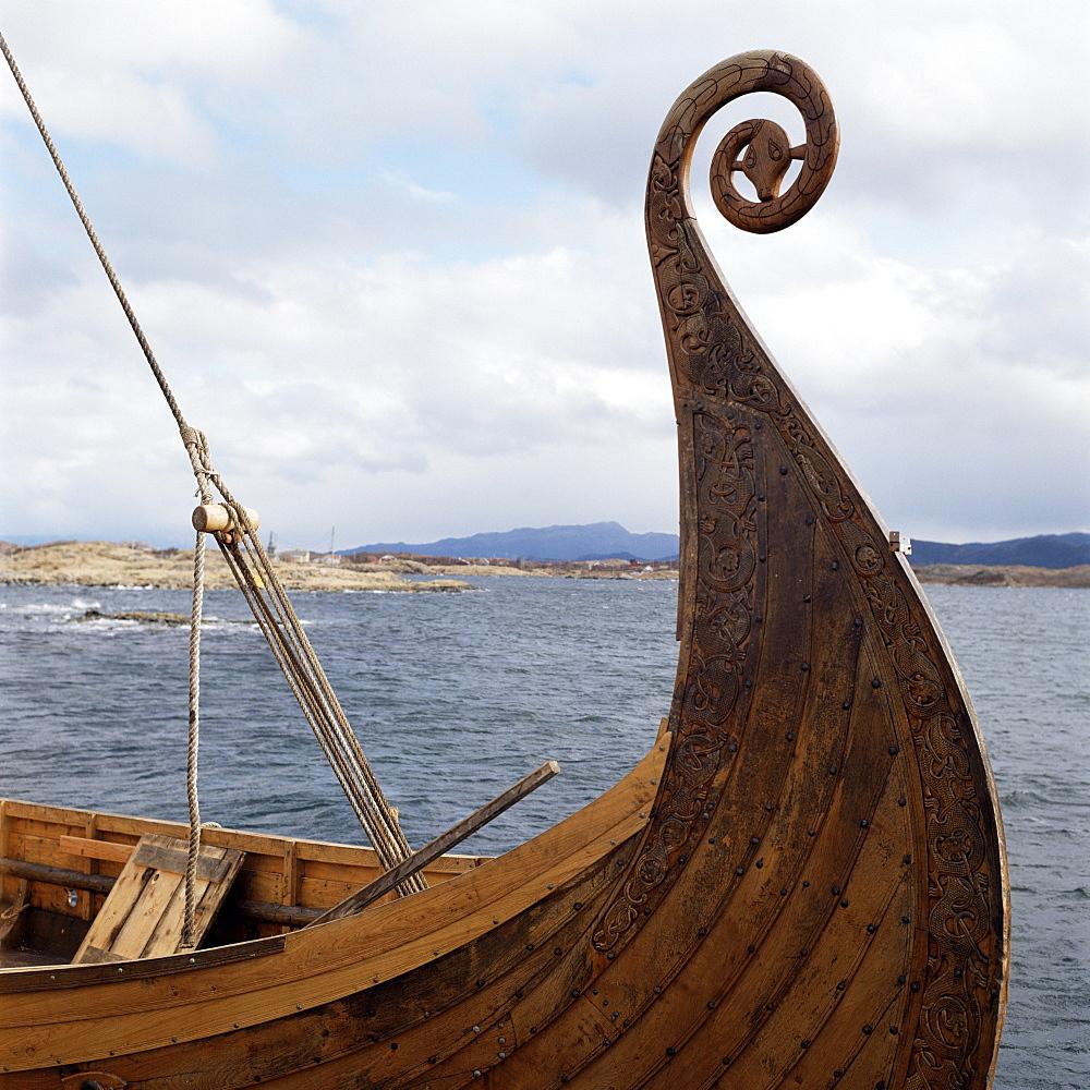 Viking Oseberg ship, Haholmen, West Norway, Norway, Scandinavia, Europe