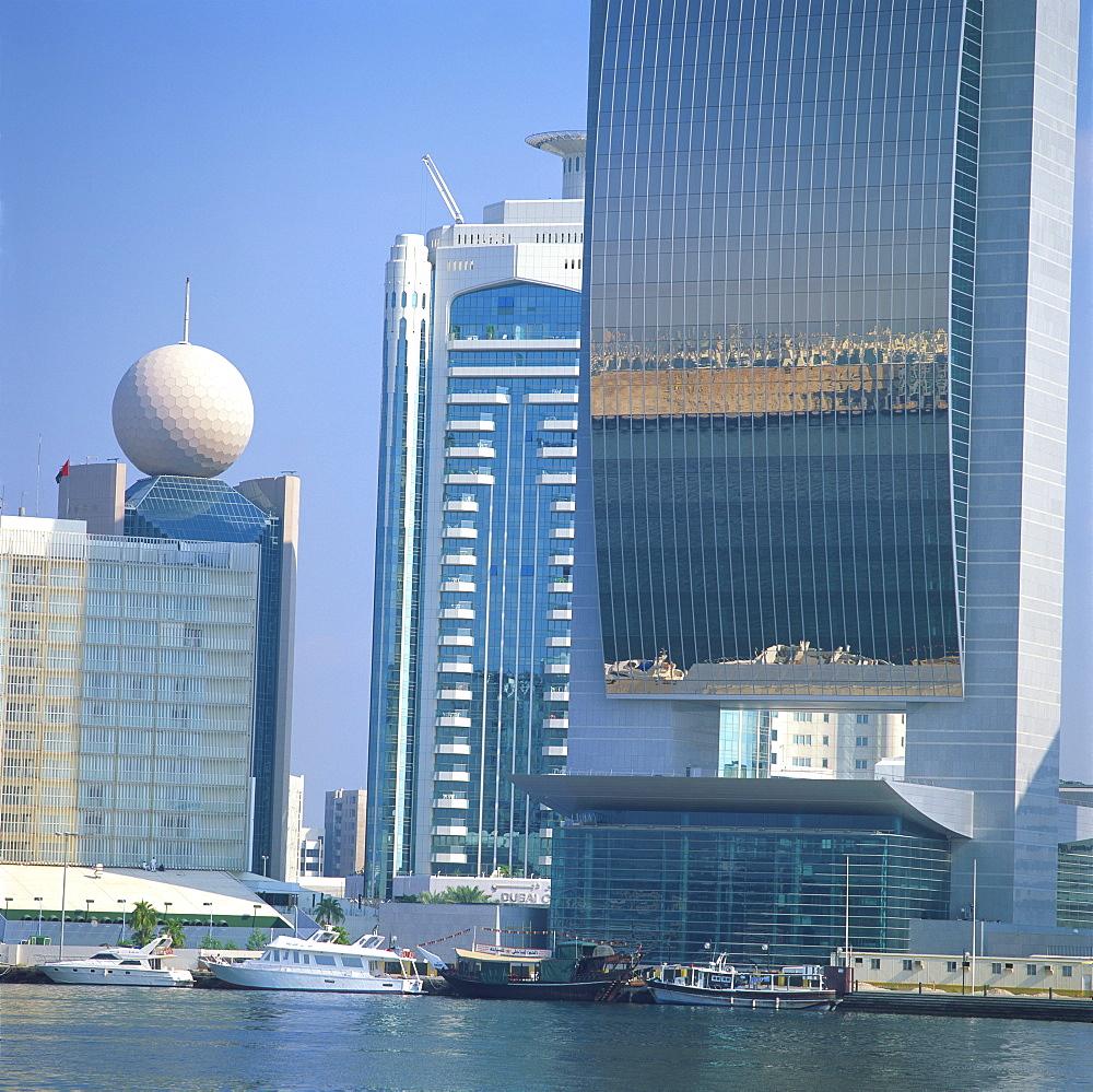 Waterside modern architecture, Dubai, United Arab Emirates, Middle East