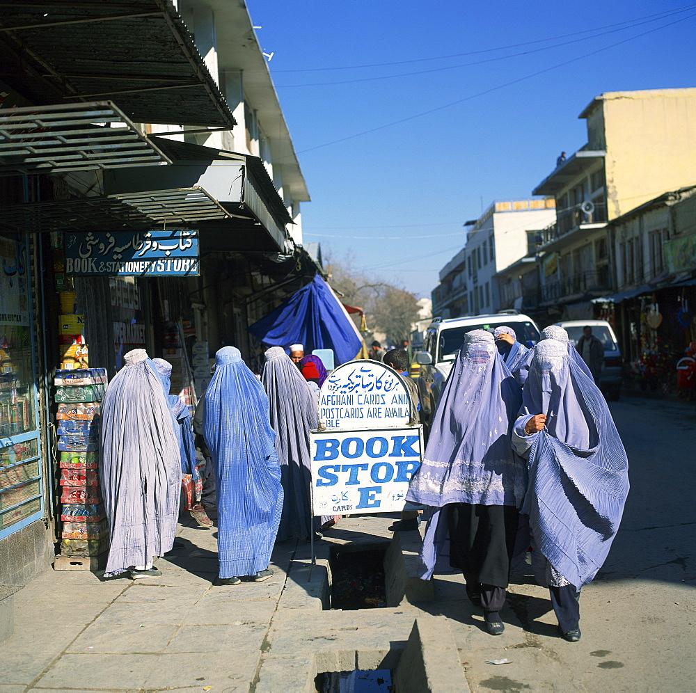 Women in burkas, Kabul, Afghanistan, Asia