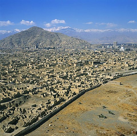 Devastation from civil war, Kabul, Afghanistan, Asia