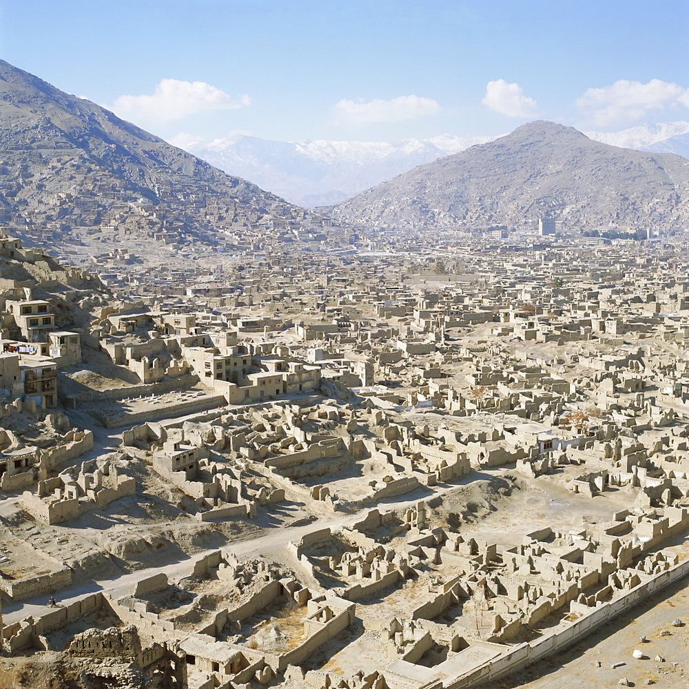 Devastation caused by Civil War 1991-1996, Kabul, Afghanistan