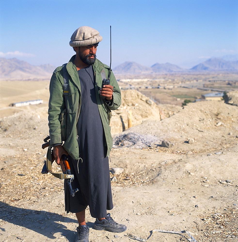 Mujeheddin commander near Kabul, Afghanistan, Asia