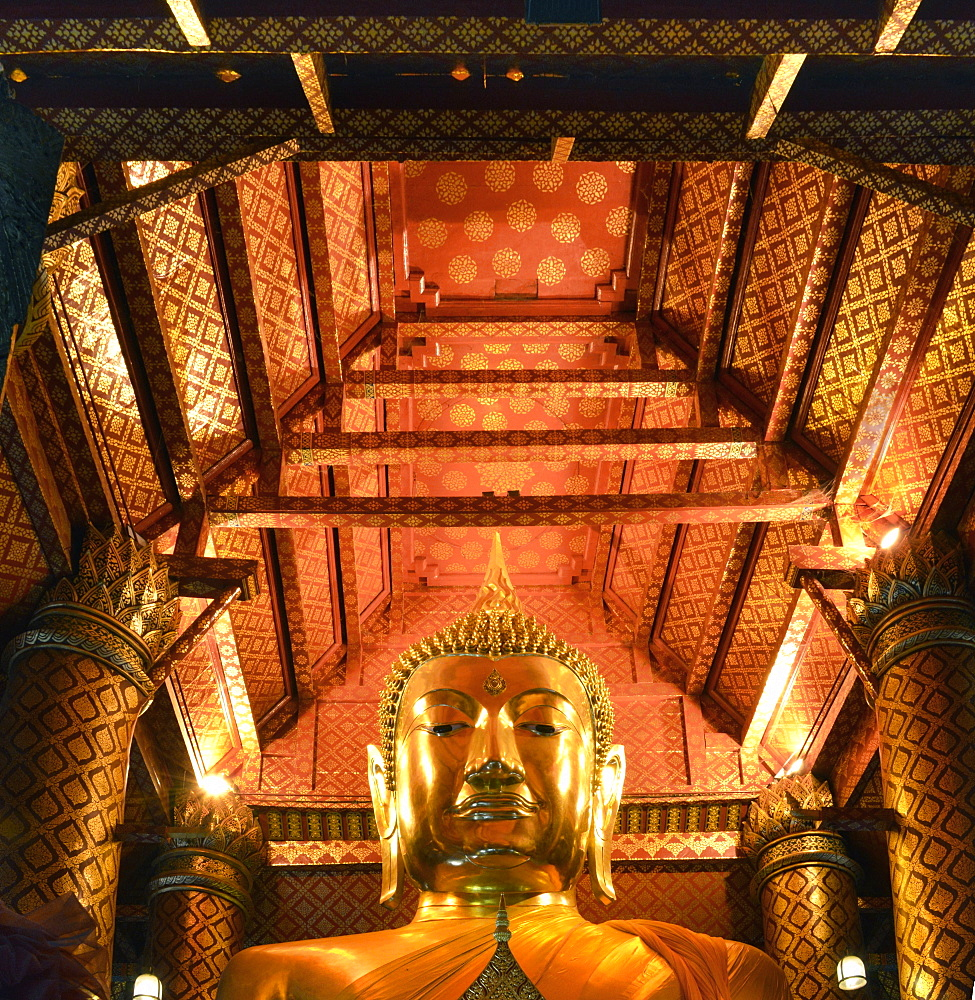Ceiling of Wat Phanan Choeng, Ayutthaya, UNESCO World Heritage Site, Thailand, Southeast Asia, Asia