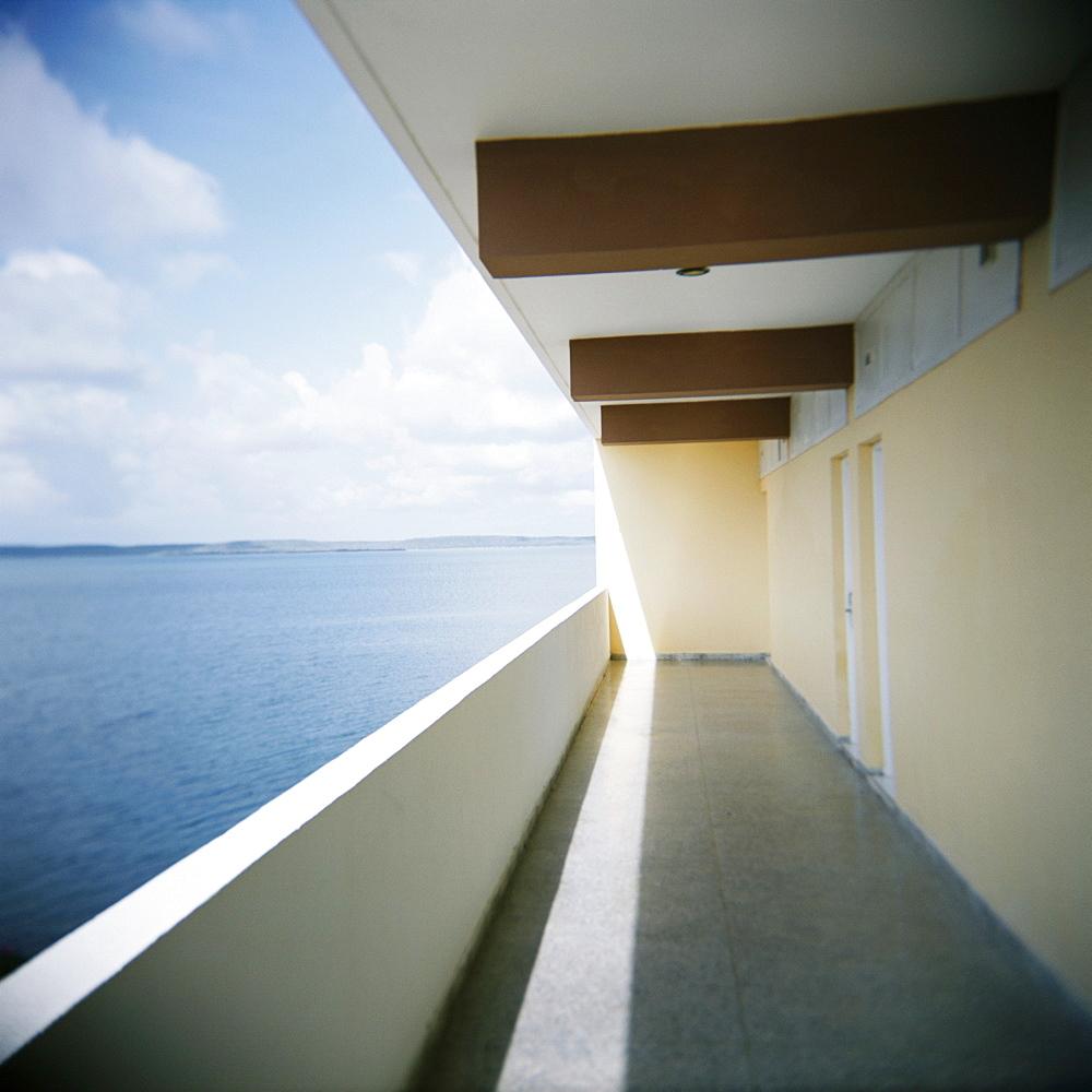 Balcony, Hotel Jaguar, Cienfuegos, Cuba, West Indies, Central America