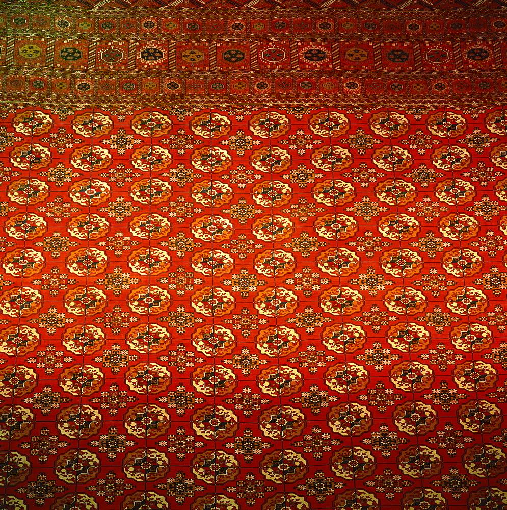 World's largest carpet, Exhibition of Economic Achievements, Ashkabad, Turkmenia, Central Asia, Asia
