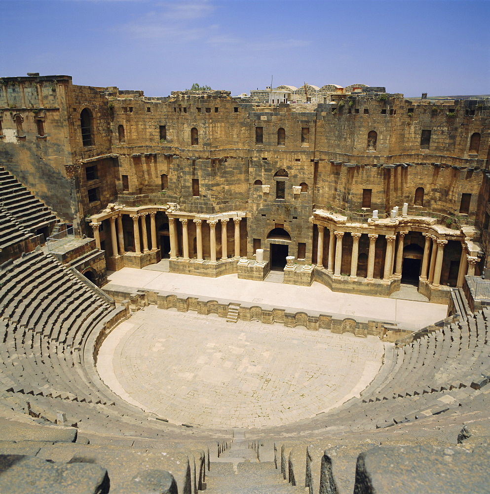 Roman Amphitheatre, 2nd century AD, Bosra, Syria, Middle East