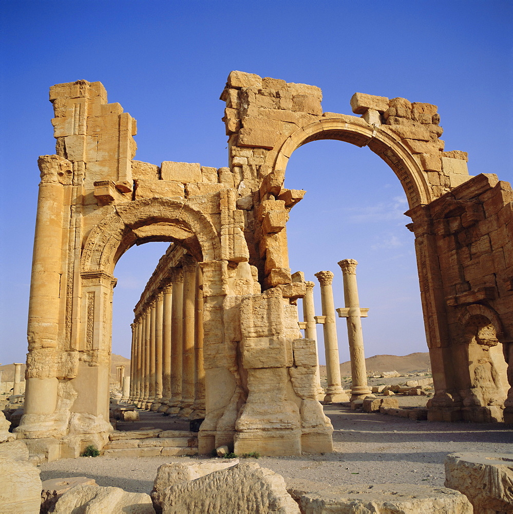 Roman Triumphal Arch, 1st century AD, Palmyra, Syria, Middle East