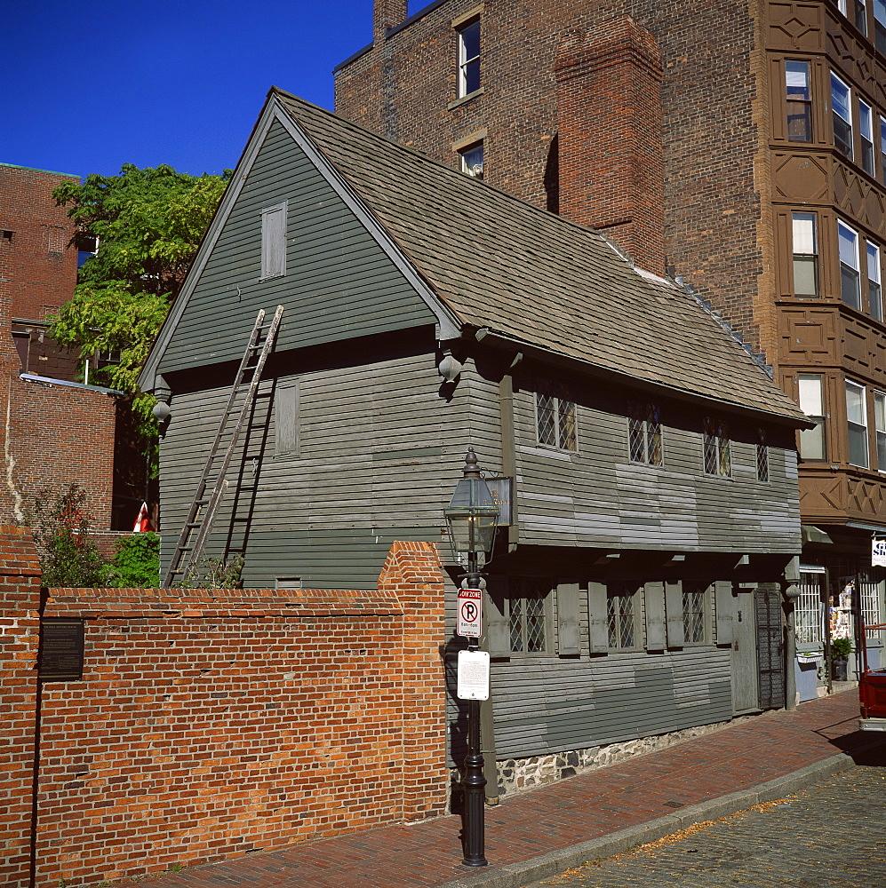 Paul Revere's house, Boston, Massachusetts, New England, United States of America, North America - 391-7028