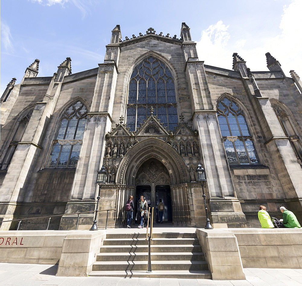 St. Giles' Cathedral West Front, Edinburgh, Scotland, United Kingdom, Europe