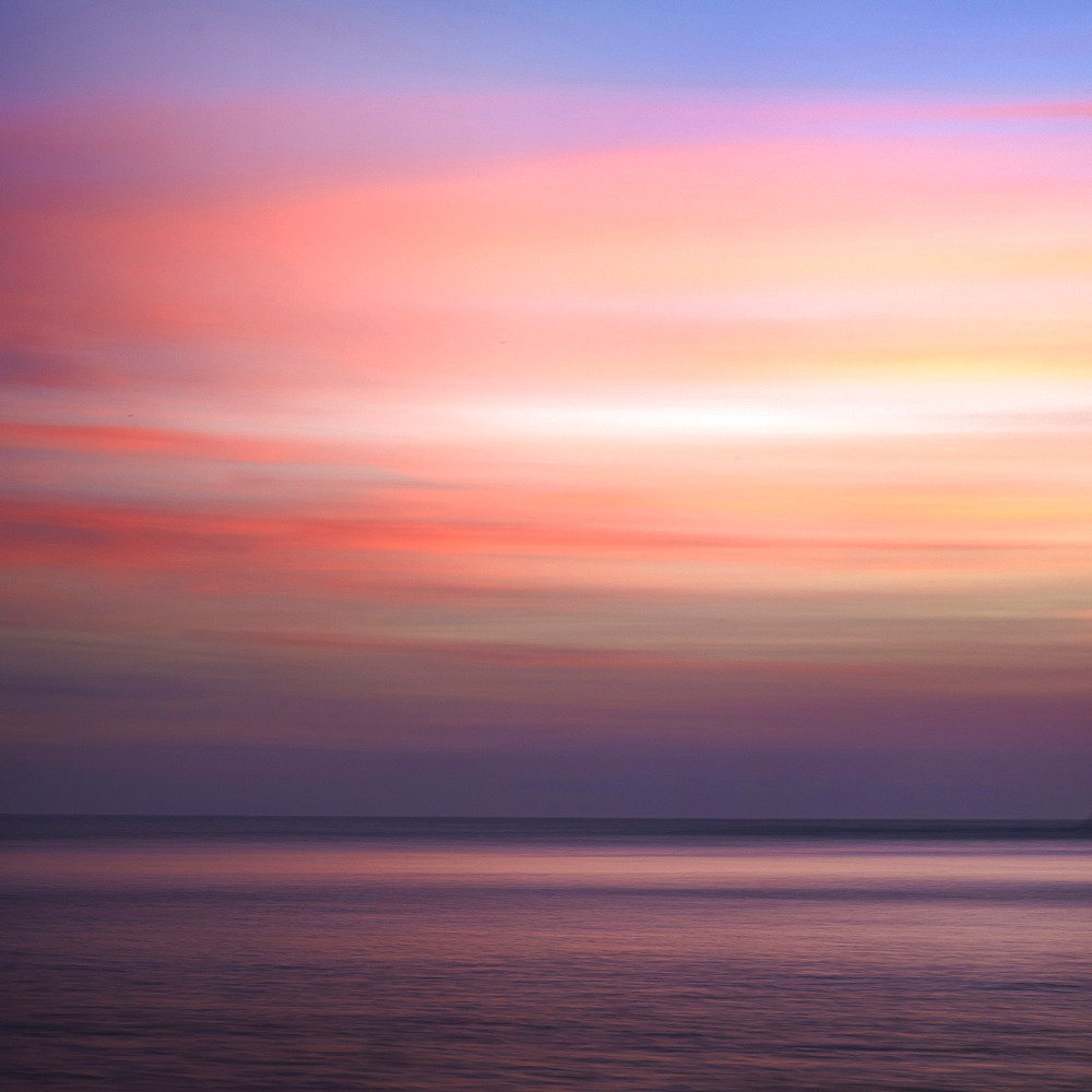 Sunrise on the Mediterranean Sea, Collioure, Languedoc-Roussillon, France, Europe